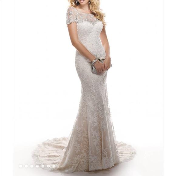 Maggie Sottero Dresses | Ivory Size 8 Wedding Gown Jacket | Poshmark
